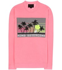 Alexander Wang Printed Cotton Sweatshirt Pink