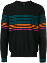 Paul Smith Ps By Striped Turtleneck Black