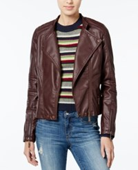 Joujou Jou Jou Faux Leather Jacket Walnut