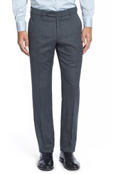 Men's Big And Tall Ballin Flat Front Solid Stretch Wool Trousers Grey