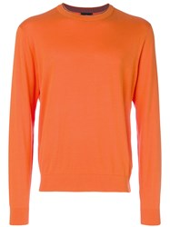 Paul Smith Ps By Crew Neck Sweater Yellow And Orange