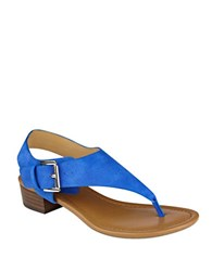Tommy Hilfiger Kitty2 T Strap Sandals Blue