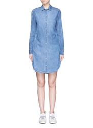 Rag And Bone Chambray Shirt Dress Blue