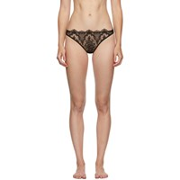 I.D. Sarrieri Black Embroidered Tulle Thong