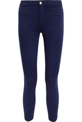 L'agence Margot Cropped High Rise Skinny Jeans Navy