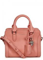 Alexander Mcqueen Mini Padlock Pink Leather Tote Light Pink