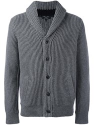 Rag And Bone Cowl Neck Cardigan Grey