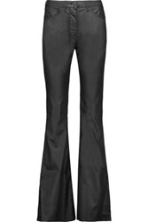 3X1 Mid Rise Coated Flared Jeans Black