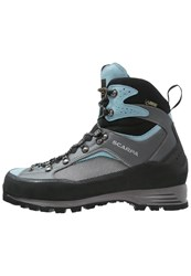 Scarpa Revo Trek Gtx Climbing Shoes Gray Air Light Blue