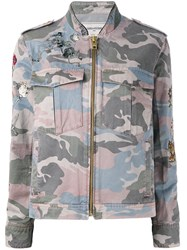 Zadig And Voltaire Pastel Camouflage Jacket Green