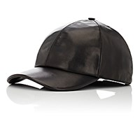 Vianel Men's Leather Baseball Cap Black Blue Black Blue