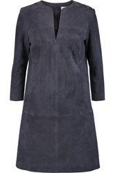 Tory Burch Suede Mini Dress Midnight Blue