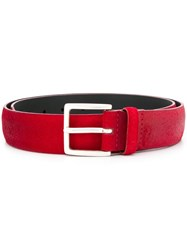 Orciani Faded Effect Belt Red