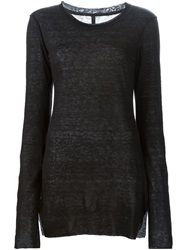 Barbara I Gongini Long Sweater Black