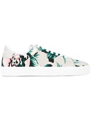 Burberry Floral Print Sneakers Emerald