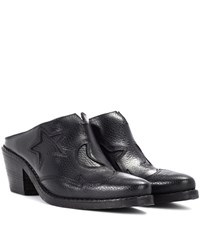 Mcq By Alexander Mcqueen Solstice Leather Mules Black