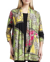 Caroline Rose Miami Print Long Cardigan Women's