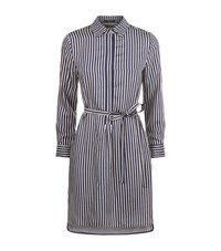 Set Striped Shirt Dress Female Black