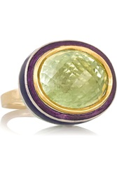Alice Cicolini Willow 14 Karat Gold Silver And Amethyst Ring