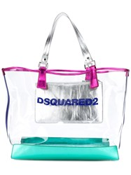 Dsquared2 Top Handle Tote Women Leather Pvc One Size Green