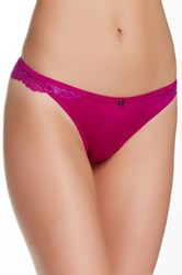 Jezebel Rumour Lace Thong Purple