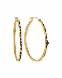 Armenta Old World Hoop Earrings With Black Sapphires And Diamonds