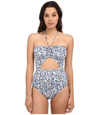 Michael Michael Kors Chilitington Halter Maillot One Piece New Navy Women's Swimsuits One Piece