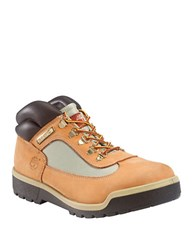 Timberland Field Leather And Waterproof Canvas Lug Sole Boots Wheat