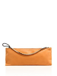 Valentino Leather Zipper Pouch Orange