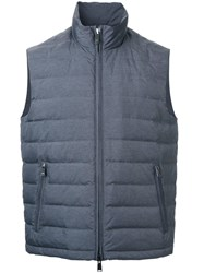 Kent And Curwen Down Gilet Grey