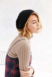 Urban Outfitters Open Boucle Slouch Beanie Black