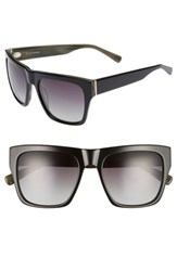 Ed Ellen Degeneres Women's 57Mm Gradient Square Sunglasses Black