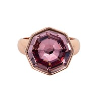 Aurora Solaris Solitaire Ring Rose Gold