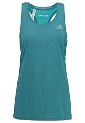 Adidas Performance Sports Shirt Chill Shock Green Turquoise