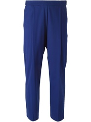 Erika Cavallini Semi Couture Cropped Front Pleat Trousers Blue