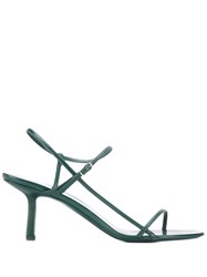 The Row Strappy Sandals Green