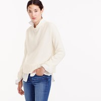J.Crew Italian Cashmere Drop Shoulder Crewneck Sweater