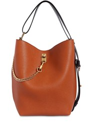 Givenchy Gv Grained Leather Bucket Bag Brown