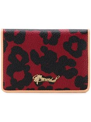 Muveil Leopard Print Wallet Red