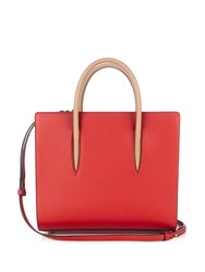 Christian Louboutin Paloma Medium Leather Tote Red Multi
