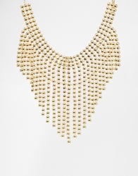 Designsix Statement Multirow Bib Necklace Gold