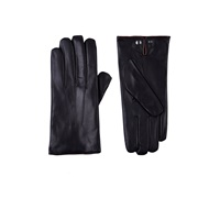Barneys New York Nappa Leather Gloves Black