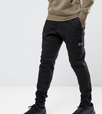 Nicce London Skinny Joggers With Patch Logo Black