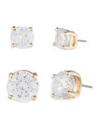 Ivanka Trump Crystal And 10K Gold Plated Stud Earrings
