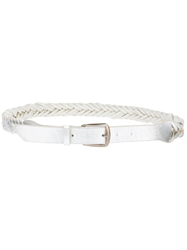 Golden Goose Deluxe Brand Plaited Belt Metallic