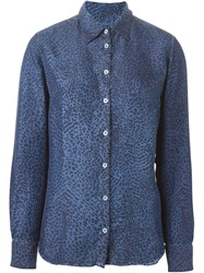 Massimo Alba Animal Print Shirt Blue