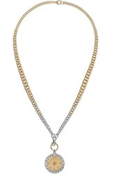 Foundrae Course Correction 18 Karat White And Yellow Gold Diamond Necklace One Size