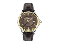 Salvatore Ferragamo Time Automatic Fft03 0016 Two Tone Stainless Steel Yellow Gold Brown Watches