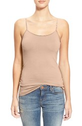 Junior Women's Bp. Stretch Camisole Tan Doeskin