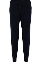 Chinti And Parker Intarsia Cashmere Track Pants Navy